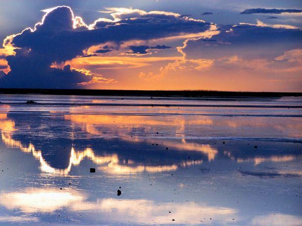 3a. Makgadikgadi Pans Sunset, Botswana - January 2006