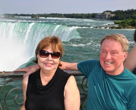 Anne & Bob at top of Horseshoe Falls - 7-12-2015