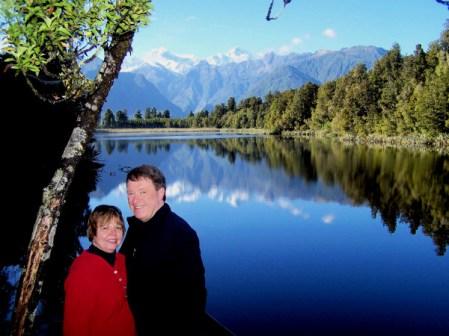 Anne & Bob - Lake Matheson 4-12-07
