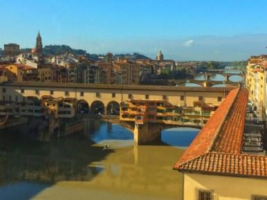 Arno River & Ponte Vecchio from the Uffizi, Florence-11-7-13