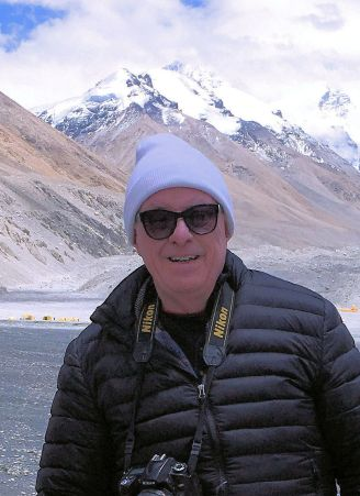 Bob at highest point at Everest Base Camp - ca 17,200 feet-cropped
