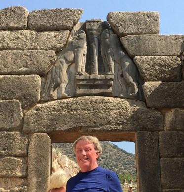 Bob at Lions Gate-Mycenae