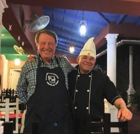 Bob with David, owner-chef of Paladar Davimart - Trinidad - 3-15-2017