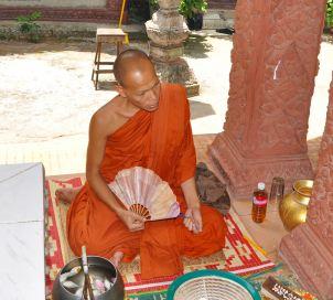 Buddhist monk, Phnom Kulen - 5-30-12