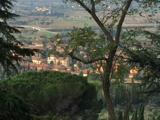 Cezanne out our window, Cortona - 10-28-13