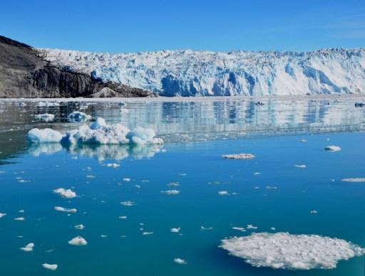 Eqi Glacier w refelction-7-12-2014