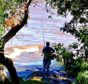 Fishing in Rio de la Plata, Colonia, Uruguay-02-03-13