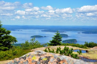 Porcupine Islands from Cadillac Mountain, Acadia NP, Maine - 27 June 2011