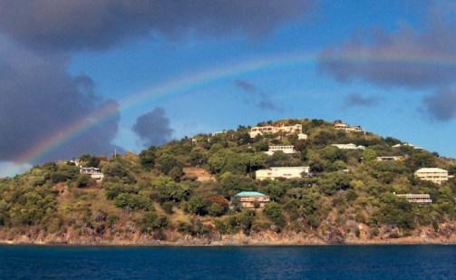 Rainbow over Cruz Bay St John