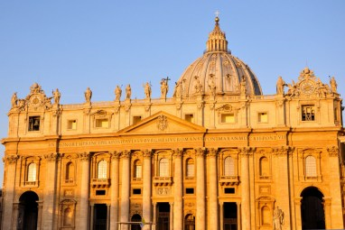 St. Peter's Basilica in early morning light - 10-23-13