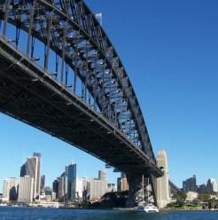 Sydney CBD from beneath Harbour Bridge 5-23-07