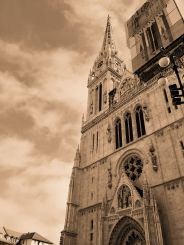 Cathedral of Assumption of the Blessed Virgin Mary, Zagreb-BW