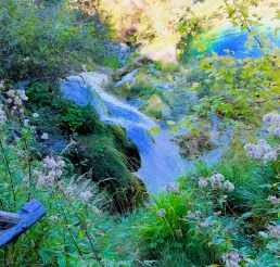 Plitvice Lakes-a small waterfall